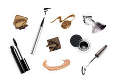 Collection Of Various Make Up Accessories Stock Images