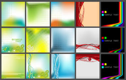 Collection Of Vector Backgrounds Stock Photography