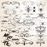 Collection Of Vector Decorative Flourishes In Vintage Style For Royalty Free Stock Images