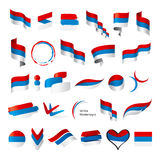 Collection Of Vector Flags Of Serbia Montenegro Royalty Free Stock Photo