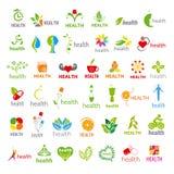 Collection Of Vector Logos Health Royalty Free Stock Photos