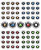 Collection Of Vector Multimedia Buttons. Stock Image