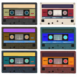 Collection Of Vector Retro Audio Cassettes. Set Of Stock Photography