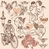 Collection Of Vector Valentine S Day Elements And Flourishes Stock Photography