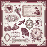 Collection Of Vintage Elements Stock Photos