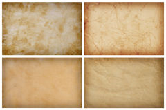 Collection Of Vintage Paper Backgrounds Royalty Free Stock Images