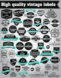 Collection Of Vintage Retro Labels, Badges, Stamps, Ribbons Royalty Free Stock Image