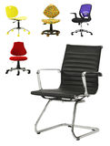 Collection of Office Chairs Royalty Free Stock Photography