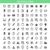 Collection office icons Stock Photo