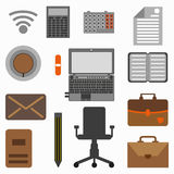Collection of office objects Stock Photos