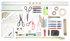 Collection of office tools Stock Images