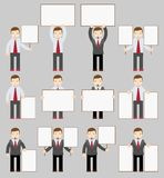 Collection of office worker with posters Stock Photo