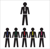 Collection of office workers icon Royalty Free Stock Images