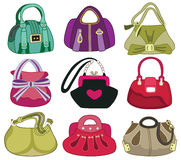 collection og fashion handbag Stock Photography