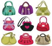 Collection og fashion handbag Stock Photography