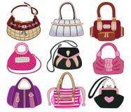 Collection og fashion handbag stock illustration