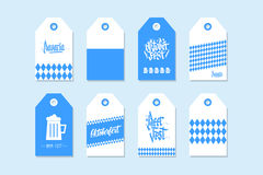 Collection of Oktoberfest gift tags. Set of hand drawn German Beer Fest labels  Stock Photography