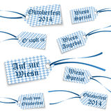 Collection Oktoberfest hangtags with text Royalty Free Stock Photography