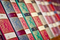 Old books background. Row of old books. royalty free stock image