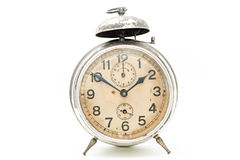 Collection of old alarm clocks Stock Photos