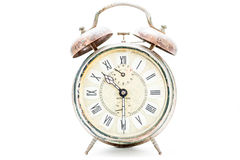 Collection of old alarm clocks Stock Images