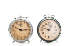 Collection of old alarm clocks Stock Photography