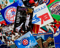 Collection of Old Baseball Schedules. Royalty Free Stock Photography