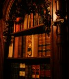 The Old Books. A collection of old books in an 18th Century library royalty free stock photography