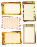 Collection old cards for scrapbooking Royalty Free Stock Photo
