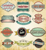 Collection of old color vintage label for design Royalty Free Stock Photography