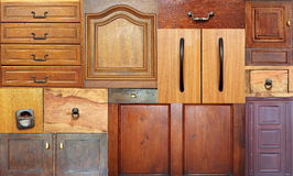 Collection of old drawers Royalty Free Stock Photo