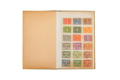 Collection of old dutch stamps Royalty Free Stock Photography