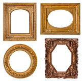 Collection old golden frames Stock Photo