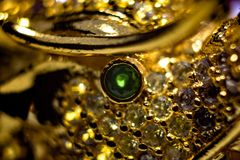A collection of old jewelry reproduction. Handmade by an Italian goldsmith royalty free stock photography