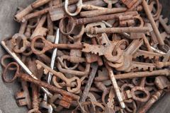 Collection of old keys Stock Photo