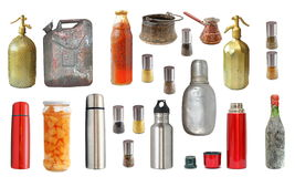 Collection of old and new recipients. Isolated over white background Stock Photo