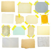 Collection of old note paper Stock Images