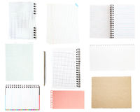 Collection of old note paper Stock Image