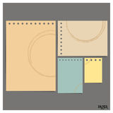 Collection of old paper sheet, ready for your message. Vector il Royalty Free Stock Photo