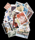 Collection of old postage stamps of Greece. Stock Photo