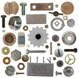 Collection old heads, gears Stock Photography