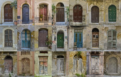 Collection of old sicily doors Royalty Free Stock Photos