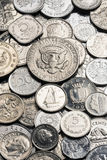 Collection of old Silver Coins Royalty Free Stock Photo