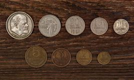 Collection of old Soviet coins Royalty Free Stock Photos