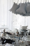 Collection of Old Tableware Stock Images
