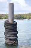 Collection of old tires Royalty Free Stock Images
