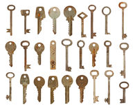 Collection of old used keys Royalty Free Stock Photography
