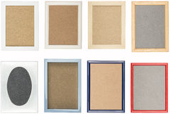 Collection of old used picture frames Royalty Free Stock Photos