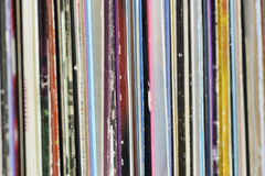Collection of Old Vinyl Albums Stock Image