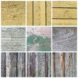 Collection of old wooden planks texture Stock Image